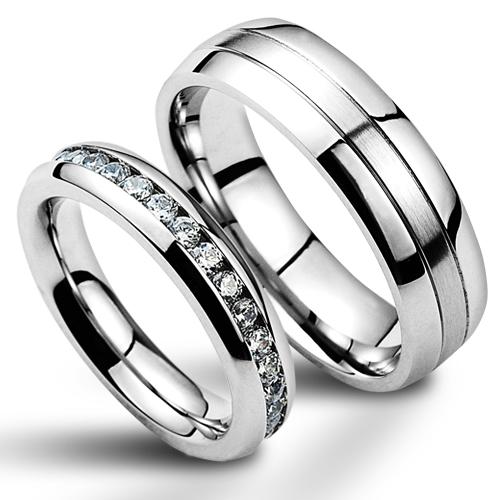 1be4d37e9 Snubní prsteny chirurgická ocel - pár NSS1004 + NSS1000 ...