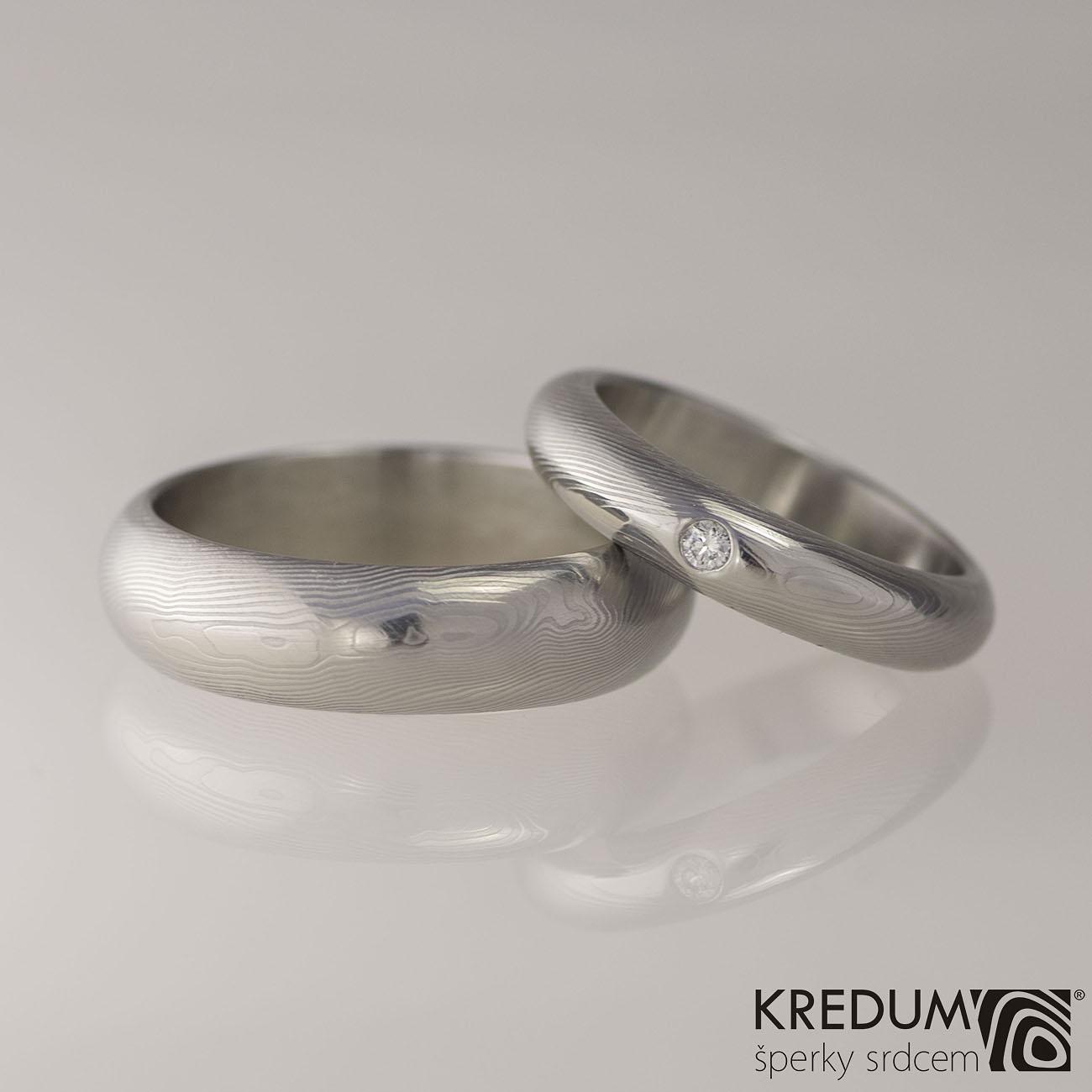Snubni Prsteny Damasteel Prima Diamant 2 0mm Par Snubniprsteny4u Cz