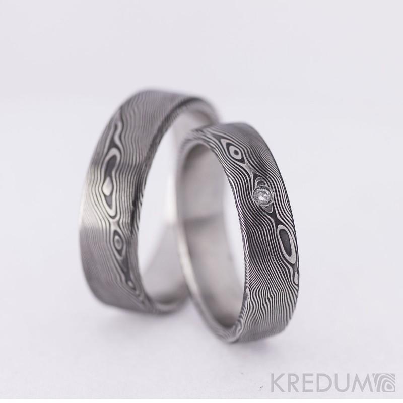 Snubni Prsteny Damasteel Prima Diamant 2 3mm Par Snubniprsteny4u Cz
