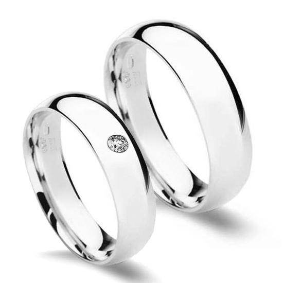 Stribrne Snubni Prsteny Sire 5 Mm Par Snubniprsteny4u Cz